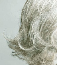 Grey hair hair loss