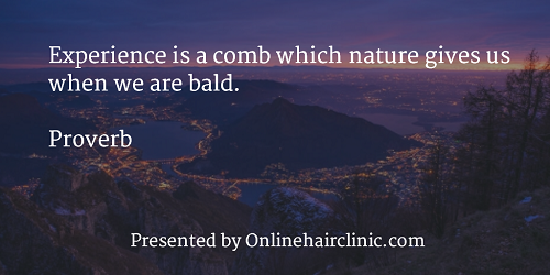 Experience is a comb which nature gives us when we are bald