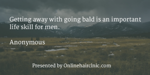 Getting away with going bald is an important life skill for men.