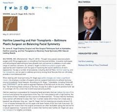 Hairline Lowering and Hair Transplants