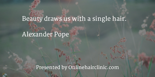 Beauty draws us with a single hair. Alexander Pope