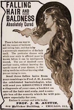 vintage baldness ad