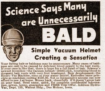 baldness vintage ads