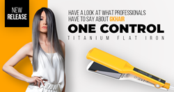 Hair Professionals Wholeheartedly Admire the New GKhair One Control Titanium Flat Iron